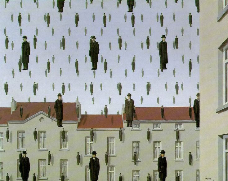 Golconde - Rene Magritte