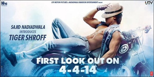 Heropanti teaser poster: Tiger Shroff flaunts his sinewy body but does he impress?