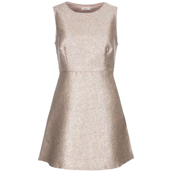 Lavand Metallic Skater Dress (2.815 RUB) ❤ liked on Polyvore featuring dresses, clearance, silver metallic, metallic dress, holiday party dresses, glamorous party dresses, metallic party dress and lavand dresses