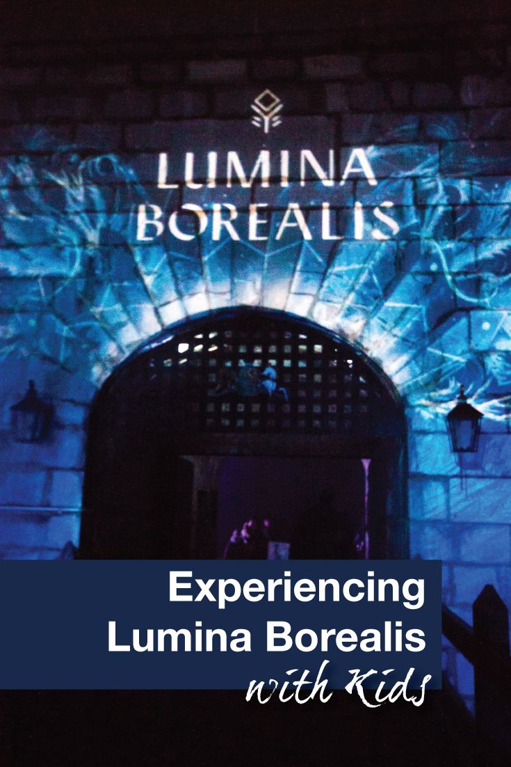 Travel Canada | Experience a winter light show in Kingston, Ontario. The magical experience called Lumina Borealis is a great way to spend a winter's night.  #LuminaBorealis #Kingston #FamilyTravel #Winterfun #Lightshow #Travelwithkids #Canada