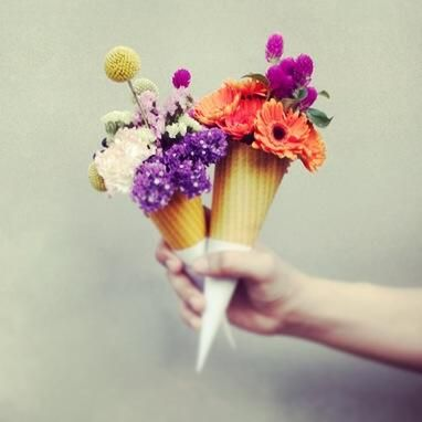 19 Best Ice Cream Cone Wedding Bouquet Images On Pinterest Ice Cream Cones Ice Cream And