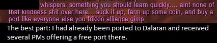 Started leveling my first Horde character after a decade of playing and asked for port to Dalaran if anyone could spare their time since the Dalaran portals are useful while leveling. Guess I somehow hurt this guy's feelings. #worldofwarcraft #blizzard #Hearthstone #wow #Warcraft #BlizzardCS #gaming