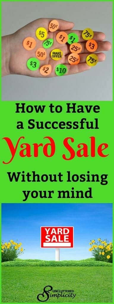 how to have a yard sale   yard sale pricing   yard sale signs