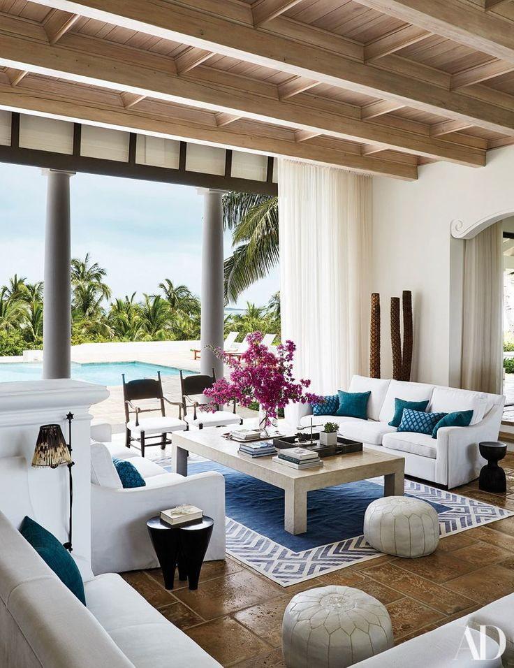 Faith Hill and Tim McGraw Live in Harmony Photos | Architectural Digest -- their private Bahamian Island retreat