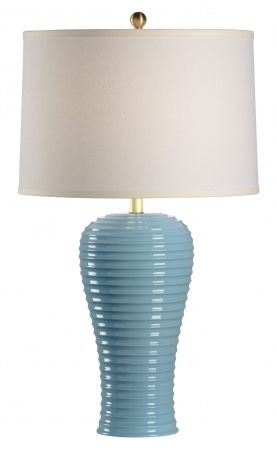 68871 Rigata Blue Table Lamp By Chelsea House * On SALE * Quality Table  Lamps At. Tropical ...
