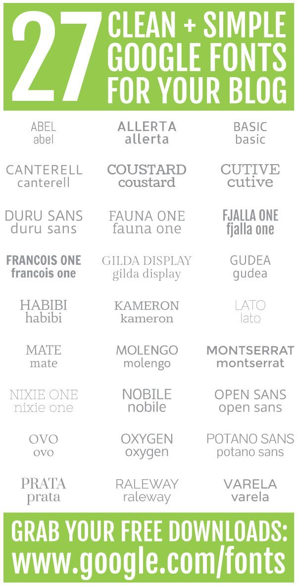 27 Clean Simple Google Fonts For Your Blog For Free Best Google Fonts Lettering Fonts Google Fonts