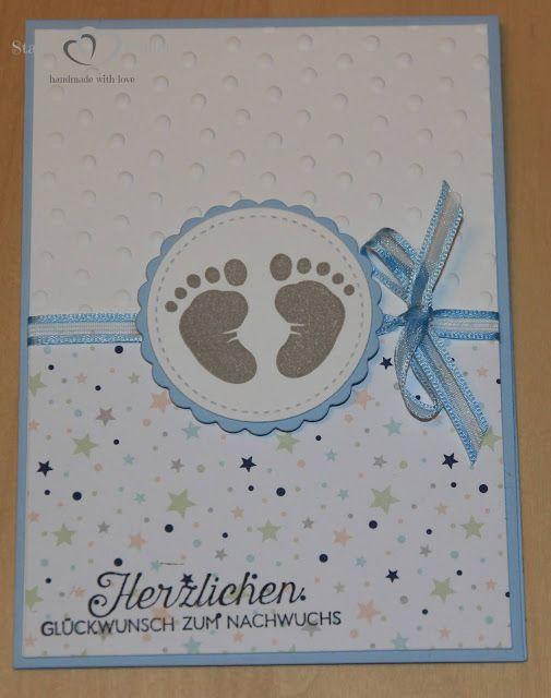 StanzeHerzPaper: Card to the birth  – Karten von StanzeHerzPapier