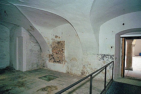 Exit from the crematorium into the courtyard in Hartheim Castle.