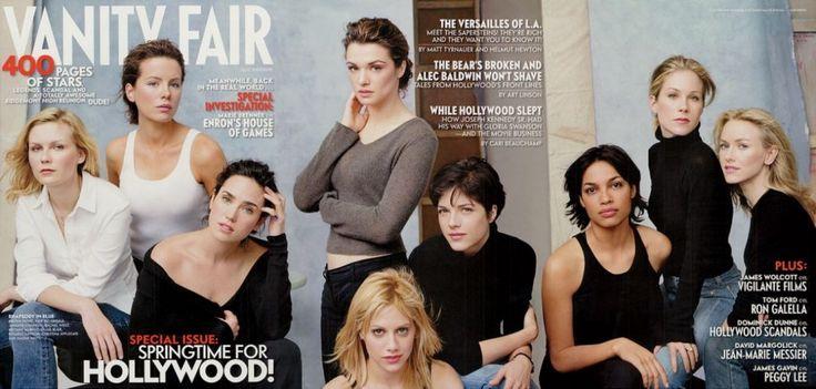 2002  From left: Kirsten Dunst, Kate Beckinsale, Jennifer Connelly, Rachel Weisz, Brittany Murphy, Selma Blair, Rosario Dawson, Christina Applegate, and Naomi Watts.