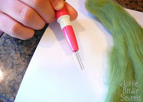 Little Birdie Secrets: how to make wool felted soap