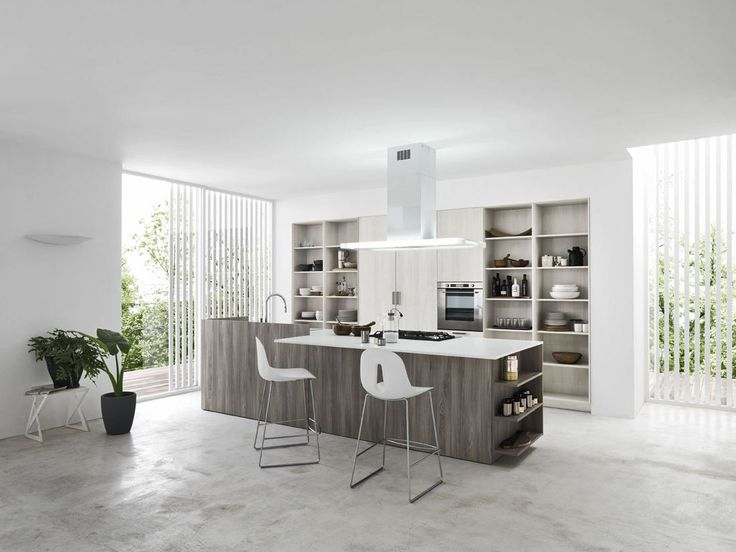 FITTED KITCHEN WITH ISLAND ARIEL 03 BY CESAR ARREDAMENTI | DESIGN GIAN  VITTORIO PLAZZOGNA