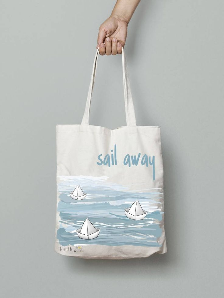 Paper boat bag tote bag canvas beach summer tote bag Canvas