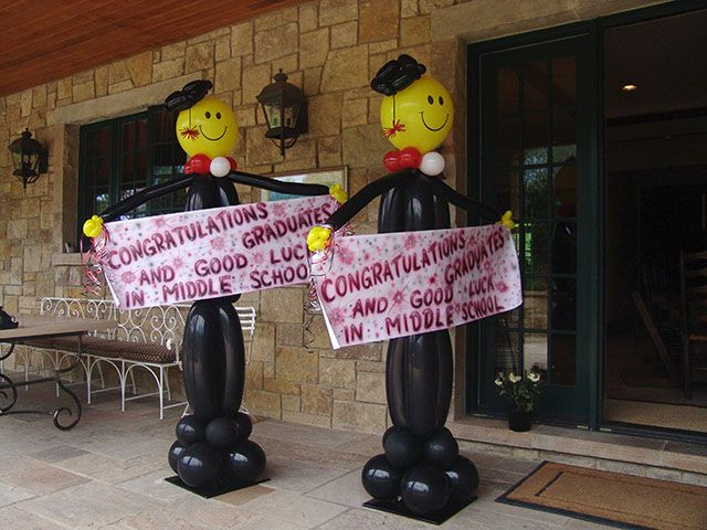 17 best ideas about graduation balloons on pinterest for Balloon decoration ideas for graduation