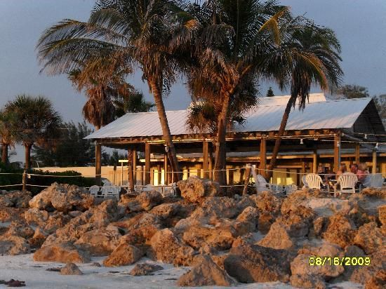 Beachhouse Restaurant, Anna Maria Island, Florida great at any time, but especially sunset, table on the sand