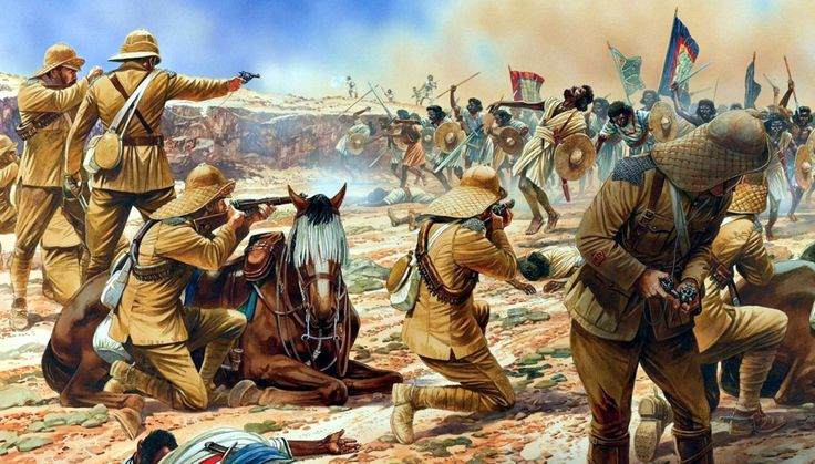 At the Battle of Omdurman (2 September 1898), an army commanded by the British General Sir Herbert Kitchener defeated the army of Abdullah al-Taashi, the successor to the self-proclaimed Mahdi, Muhammad Ahmad.
