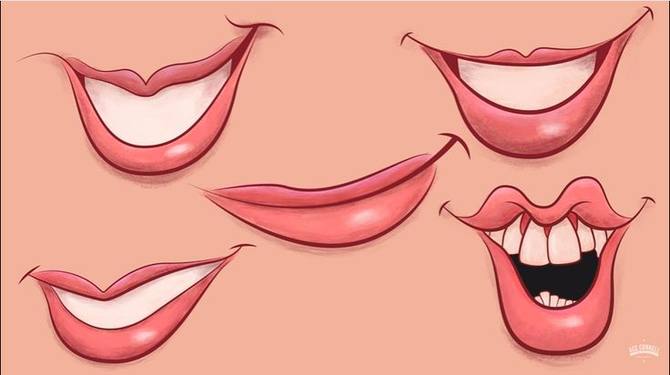 mouth, draw mouth, how to draw mouth, animated mouth