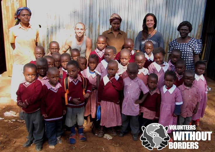 Buying a uniform for children in the slums is money well spent!  These children went to a school in the slums in Nairobi, Kenya.    Find out how to volunteer, or to contribute here:  www.volunteerswithoutborders.ca