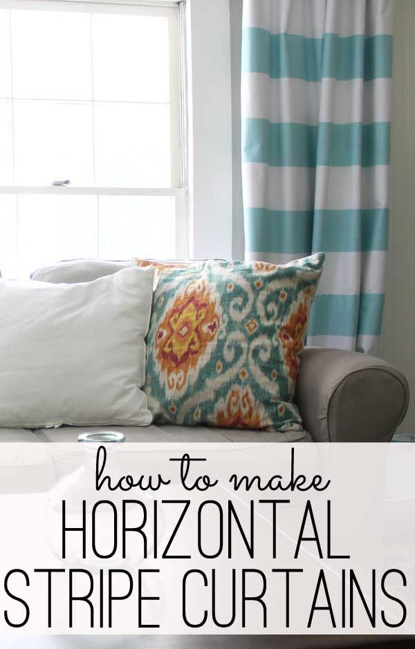 Horizontal striped curtains on pinterest stripe curtains curtains