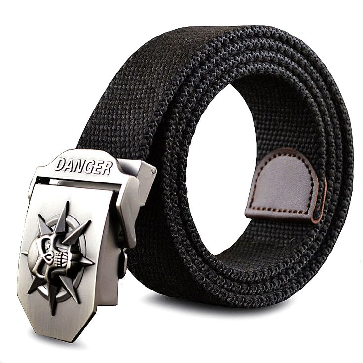 Fashion men's Canvas belt skull Metal tactics woven belt canvas belt Casual pants Cool wild gift for men belts Skull large size ** Locate the offer simply by clicking the VISIT button