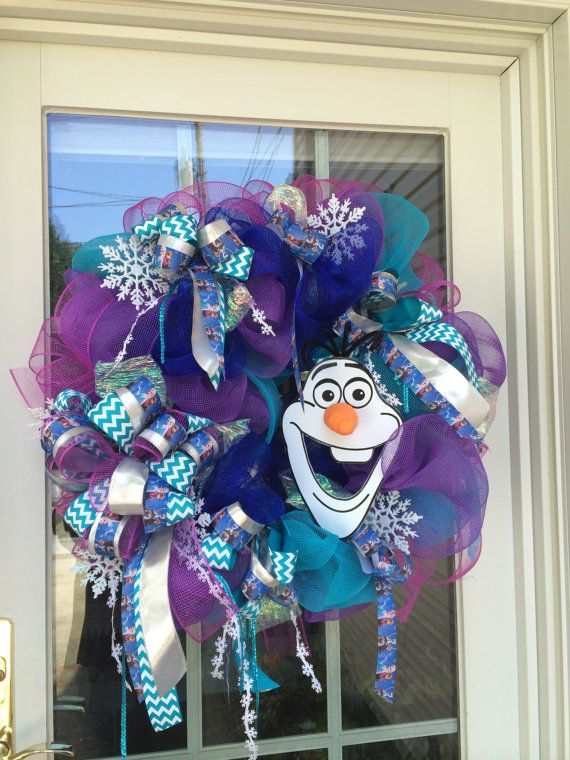 Frozen Mesh Wreath. Birthday. Holiday. by TisASeasonDotCom on Etsy, $134.99