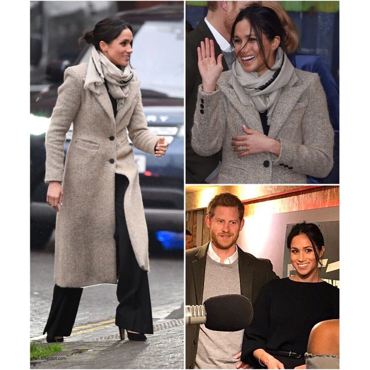 "1,054 Likes, 11 Comments - Royal Family News (@royalfamilynews) on Instagram: ""9 January 2018•Meghan's outfit (brands): Coat: Smythe Sweater: Marks & Spencer Trousers: Burberry…"""