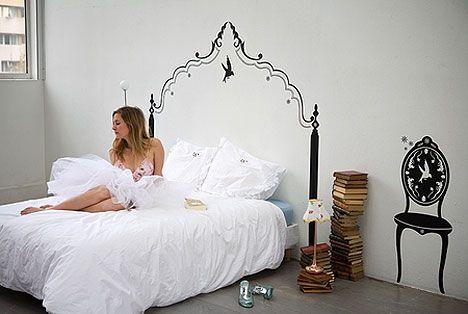 cabeceras pintadas painted headboard by dormitoriosblogspotcom cabeceros pintados deco pinterest belleza cabeceros y cabeceros pintados