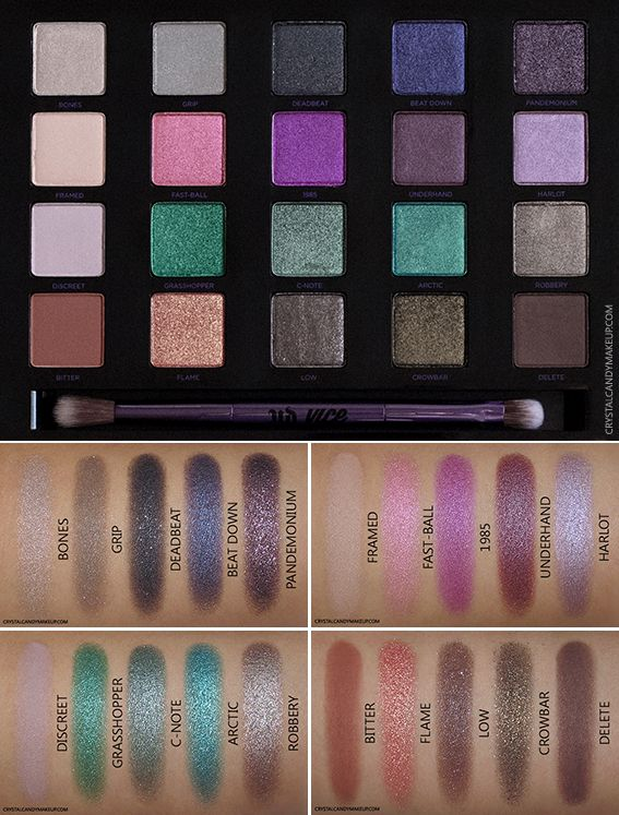 Urban Decay Vice 4 Eyeshadow Palette - Review and Swatches http://www.crystalcandymakeup.com/2015/11/urban-decay-vice4-eyeshadow-palette-review.html