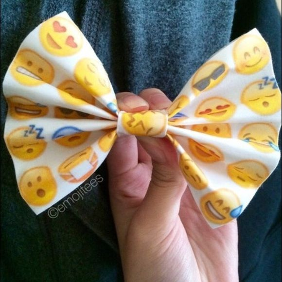 Adorable emoji bow  Emoji bow Accessories