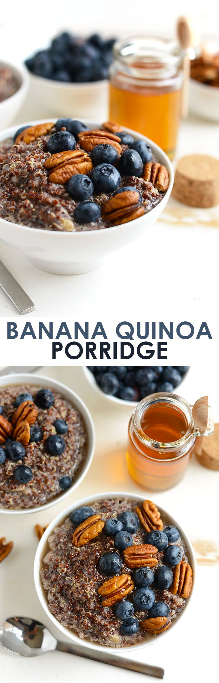 Mix up your breakfast and make this delicious banana quinoa porridge for a vegan, gluten-free option that will keep you full all morning!