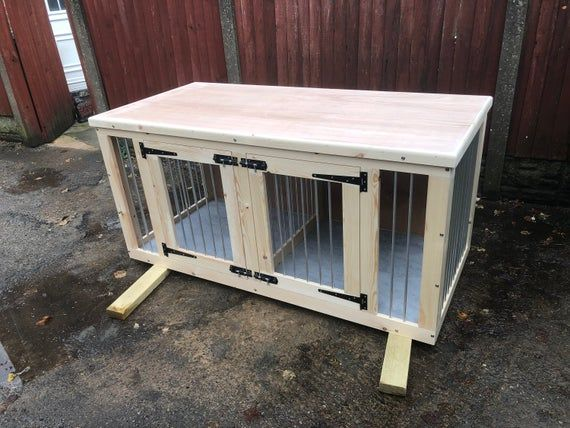 Double Dog Kennel Delivery Will Depend On Post Code Custom Dog Houses Diy Dog Kennel Dog Crate Furniture