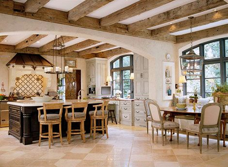 Kitchen With Beam Ceiling Timber Beam Ceiling Bleached