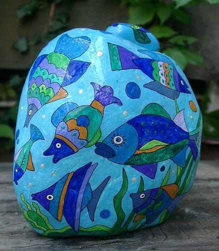 Steinaquarium, via Flickr. - stone art