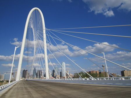 Cable – Stayed Bridge In Dallas