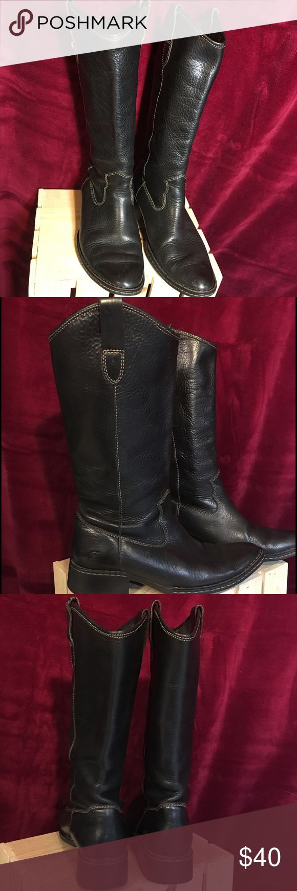 Born Boots Black Born boots. Gently loved boots. In good condition Born Shoes Heeled Boots