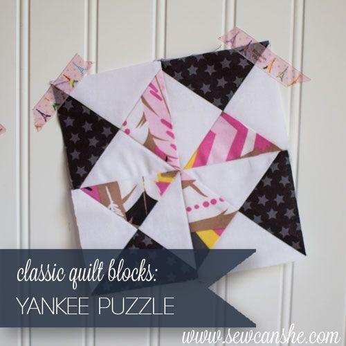 Classic Blocks: Fresh Fabric For November... The Yankee