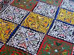 Sindhi hospitalityrilli / ralli Tags: color yellow work handicraft hand quilt colorfull sewing craft fabric needle handcrafted handcraft ralli