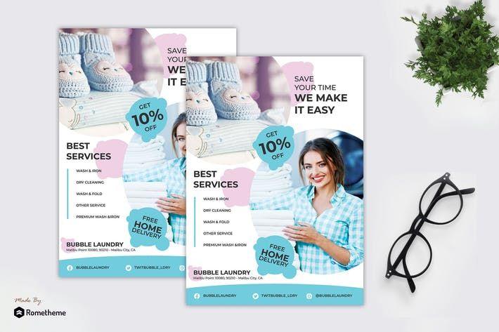 Bubble Laundry Service Flyer Ry Get It Now Flyer Flyerdesign