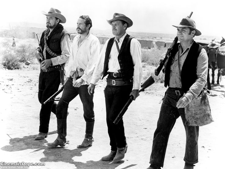 "The Wild Bunch -- directed by ""Bloody"" Sam Peckinpah, this 1969 western about four aging outlaws is often taught in film schools, especially its action packed last scene. Legend has it more blanks were shot making this movie than in the actual war it portrays."