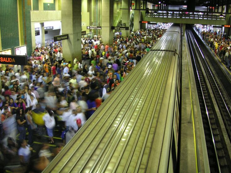 The Caracas Metro, in Venezuela, is the fourth-largest rail line in Latin America, with 1.3 million people boarding trains daily.
