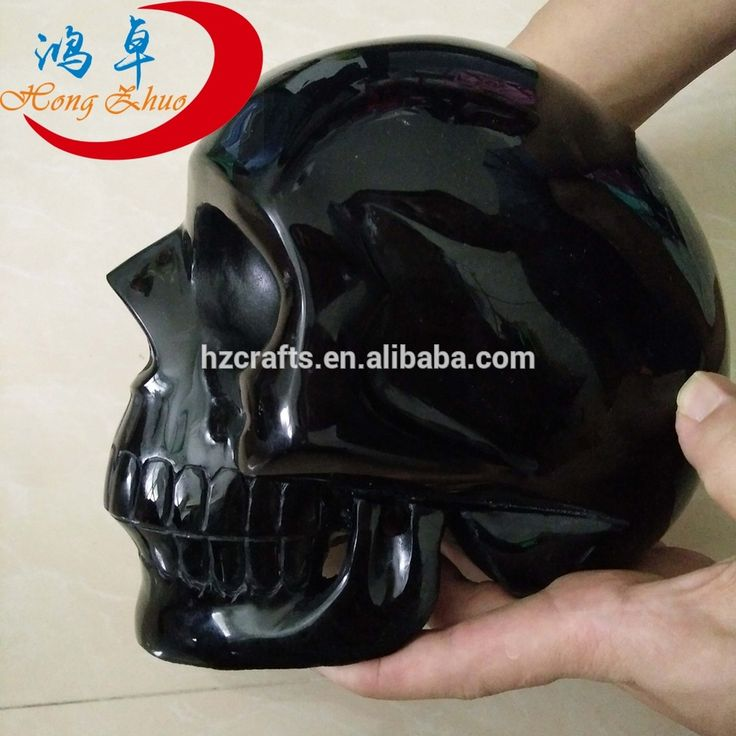 Natural Mexican Obsidian Skull For Sale