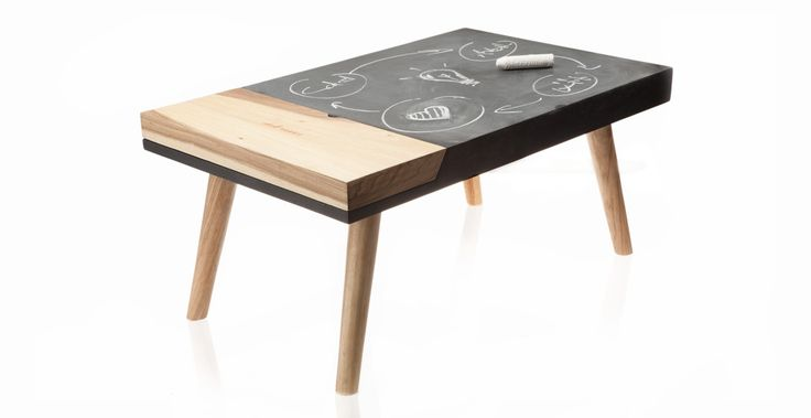 Chalk Norris by ODA & DOSUNO Design.  Furniture design, table, chalk, cool, black, modern, decoration, idea, cool.