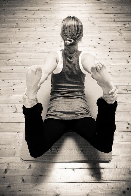 Bow Pose...to increase back flexibility and when you rock back and forth it massages internal organs. Prevents slouched posture and increases blood flow to vital organs.