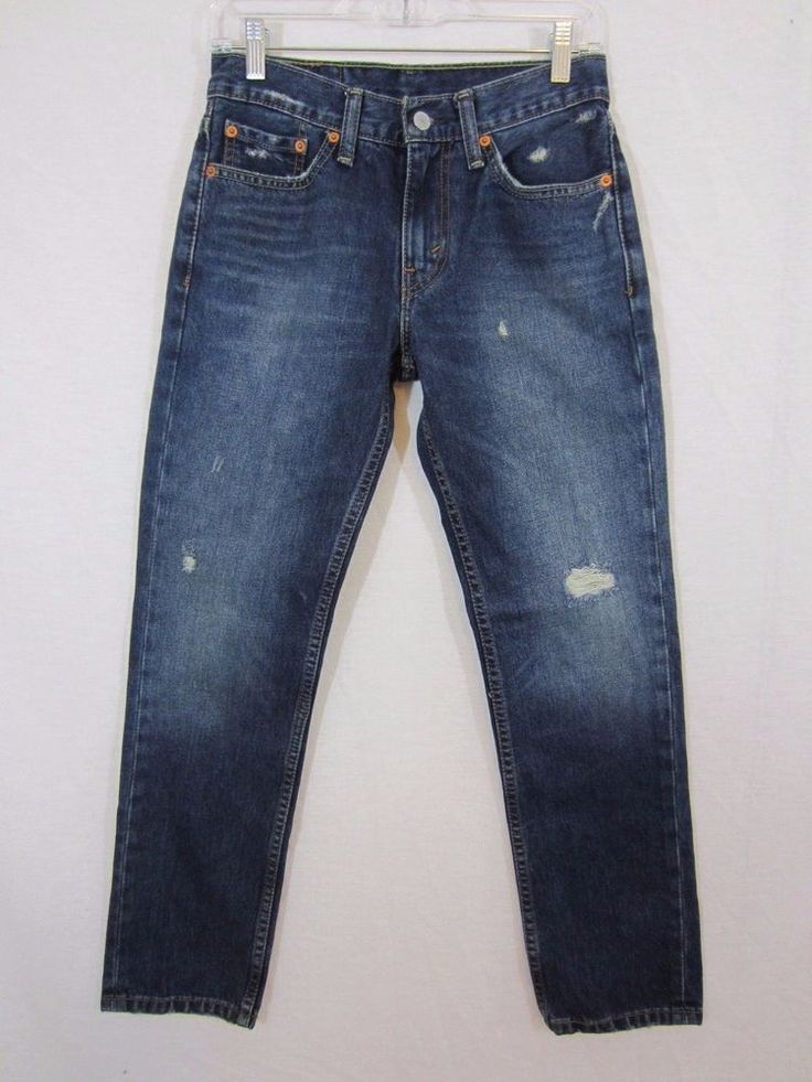 Men's LEVI's 511 Slim Fit Tapered Leg Denim Jeans Size 29 x 30 Distressed #Levis #SlimFit