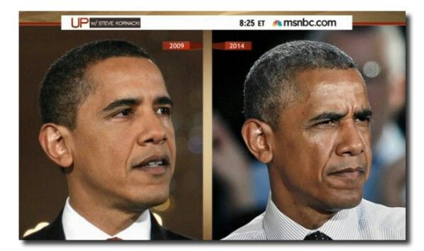 President Barack Obama . . . The job ages all presidents . . . FAST!