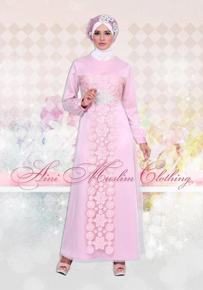 Baju Pesta Muslimah Elegan Pink