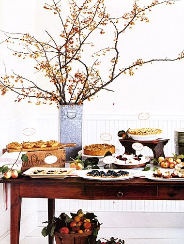 Fall desert table! Classic American desert with French country charm