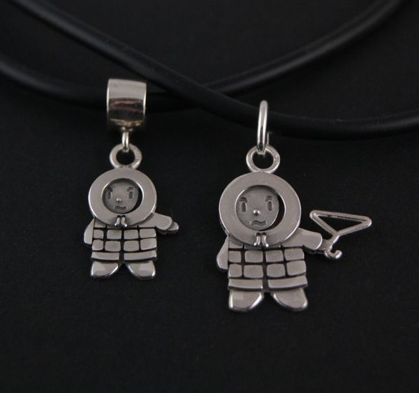 #Anoraknophobia #Barry - #Marillion - Jewellery - Handmade Sterling silver pendant & charm- PENANR21 and BEANR18T- Designed by Karin Hengeveld - to order check - www.CariGold.nl