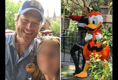 Blake Shelton & Gwen Stefani -- First Disneyland Visit Is Family Affair (PHOTOS)