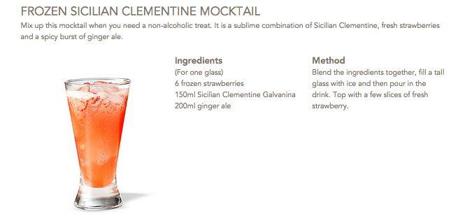 Frozen Sicilian Clementine Mocktail #Galvanina #drink #recipe