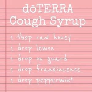 DIY all natural cough syrup made with honey and doTERRA essential oils. #doterra #natural #I'veGotAnOilForThat by Laura Tumillo